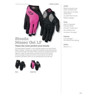 3f49dae162834a Rękawiczki damskie GIRO STRADA MASSA SG LF długi palec black roz. M (obwód  dłoni
