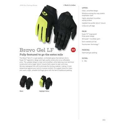 cb4ae97752a1b3 Rękawiczki męskie GIRO BRAVO GEL LF długi palec black roz. XL (obwód dłoni  248